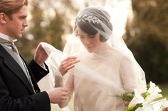 Brides: Get the Look: Lady Mary's Wedding Headpiece from Downton Abbey's Season 3 Premiere!