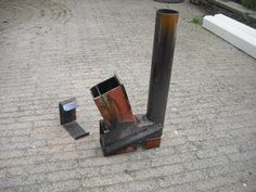 ▶ Rocket stove (heater) on steroids part 2 - YouTube