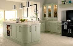 gray kitchen cabinets | Tiverton Grey: a large, classic kitchen for couples