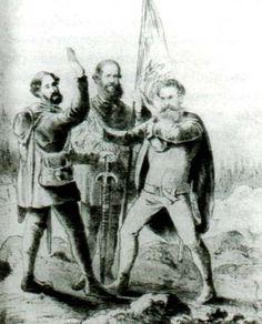 Chefes de Estado do Brasil, Argentina e Paraguai (Semana Ilustrada, 1865).