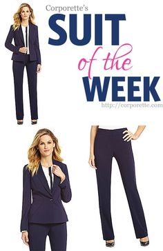 Love this simple navy suit from Antonio Melani -- classic enough for interviewing, but with cool enough seaming details that you'd want to wear it any other times