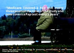 nice #quote Pap tests may be beneficial for preventing cervical cancer in older women