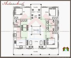 French decor Traditional house plans kerala, Traditional house plans with porches, large Traditional house plans, Traditional house plans ireland, Traditional house Free House Plans, Porch House Plans, Courtyard House Plans, House Layout Plans, Craftsman House Plans, House Floor Plans, Kerala Traditional House, Traditional House Plans, Korean Traditional