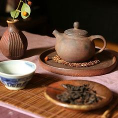 Drinking 2003 Xia Guan Tie Bing Sheng Puer from a teapot that Petr Novak gave me…