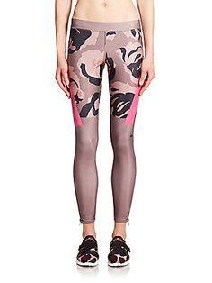 adidas by Stella McCartney Techfit Abstract-Print Leggings