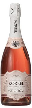 Korbel Sweet Rosé Champagne, $49.00 #champagne #valentinesday #1877spirits #gifts