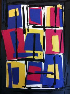 Shapes, Primary Colours, Horizontal & Vertical Lines all in one art lesson!