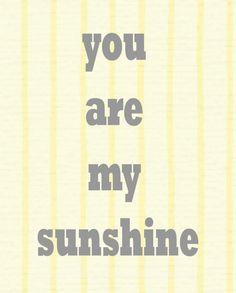 8x10 You are my Sunshine Nursery Art Print by LittlePeanutPrints, $15.00