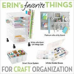 Our elfa Buyer, Erin, picked out some of her favorite things for craft organization!
