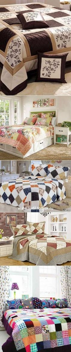 42 Ideas For Patchwork Quilting Blanket Colchas Quilting, Machine Quilting, Quilting Projects, Quilting Designs, Amish Quilts, Easy Quilts, Patch Quilt, Quilt Blocks, Pattern Blocks