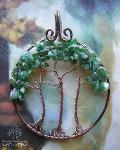 Forest Trees of Life Wire Wrapped Pendant by RachaelsWireGarden
