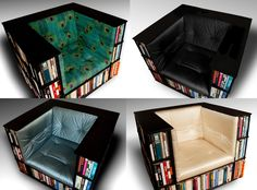 Gentleman's Luxury Library Bookcase Chair  Made by TheLibraryChair, $2,500.00