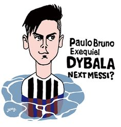 パウロ・ディバラ dybala(アルゼンチン)の似顔絵イラスト
