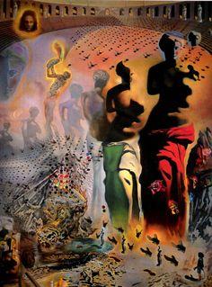 Salvador Dali - The Hallucinogenic Toreador-FAVORITE piece and even better in person!