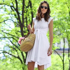 Little White Dresses + Summery Accessories = Memorial Day Perfection