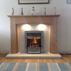Oak Fire Surround, Built In Electric Fireplace, Fireplace Surrounds, Solid Oak, Living Room, The Originals, Check, Photos, House