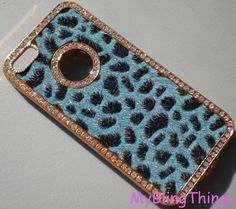 For Apple iPhone 5  Exquisite Fur on Gold Case by MyBlingThingz, $24.95
