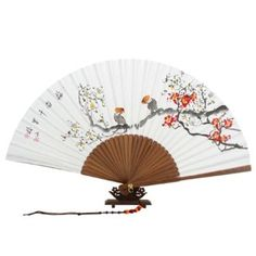 Amazon.com - Hand Painted Folding Red and White Korean Plum Flower Fan..