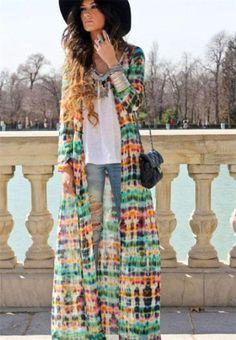New Long Boho Chiffon Hippie Tie Dye Zara Print Beach Etsy Cover Up Full Dress | eBay | $39.99