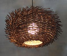 Flush Mount Bird Nest Shape Rattan Lightings - iD Lights Plug In Pendant Light, Pendant Lighting, Pendant Lamps, Ceiling Canopy, Ceiling Lights, Entryway Lighting, Handmade Lamps, Room Lamp, Flush Mount Lighting