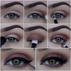 53 ideas wedding makeup tutorial for brown eyes eyebrows for 2019 - New Make Up İdeas Pretty Makeup, Love Makeup, Makeup Inspo, Makeup Inspiration, Makeup Style, Green Makeup, Burgundy Makeup, 80s Makeup, Witch Makeup