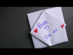 Carta con bolsillo (#cartasplegables) - YouTube