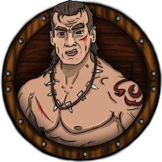 JAVIER ARRÉS ILLUSTRATION: New Character for RPG fantasy app videogame. The Barbarian (25% Damage)