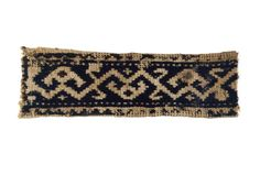 Egypt    Band, 13th/14th century    Linen, plain weave; embroidered with silk in…