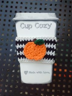 crochet pumpkin coffee cozy | Crochet | Pinterest | Crochet Pumpkin ...