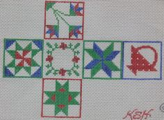 Kate Dickerson quilt patterns cube ornament