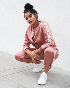 Duo Stripe Jacket Pants 2 Piece Set - Sport News Sporty Outfits, Swag Outfits, Trendy Outfits, Cool Outfits, Fashion Outfits, Socks Outfit, Pants Outfit, Adidas Moda, Mode Instagram