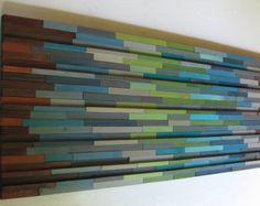 Reclaimed Modern Wood Sculpture Abstract Painting  Wall Art Reclaimed Wood Rustic
