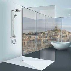 Receveur douche italienne Linéal Solid Surface blanc