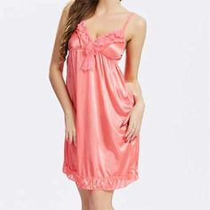 Best Sexy V Neck Ice Silk Nightdress Spaghetti Strap Sleepwear For Women online, sexy and hot Sexy V Neck Ice Silk Nightdress Spaghetti Strap Sleepwear For Women is hot sale at NewChic Lingerie Vintage, Hot Lingerie, Women Lingerie, Cheap Lingerie, Cute Sleepwear, Sleepwear Women, Spaghetti, Lingerie Plus Size, Fashion Outfits