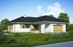 DOM.PL™ - Projekt domu FA Julia CE - DOM GC5-64 - gotowy koszt budowy House Plans, Shed, Floor Plans, Outdoor Structures, Flooring, Outdoor Decor, Houses, Home Decor, Albums