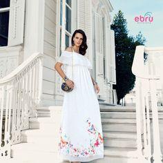 Ebru Maternity Butterfly Dress Butterfly Dress, Maternity Dresses, White Dress, Fashion, Moda, Maternity Gowns, White Dress Outfit, Maternity Beach Dresses, Fasion