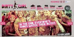 Dirty Girl 5K Mud Run, Scranton PA. Sarah and I are training.