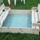 Ana White | Build a Sand box with built-in seats | Free and Easy DIY Project and…