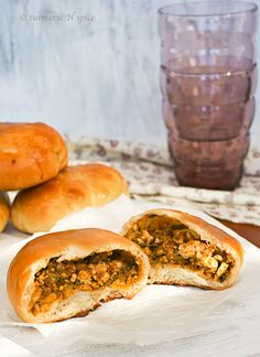 Masala Bun / Spicy dinner rolls killing me with this need it now! Stuffed buns are my favourite thing in I the world!