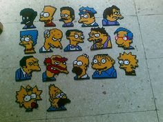 Coleccion Simpsons hama beads by Tammyta