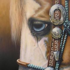 Art of horse and ornate bridle