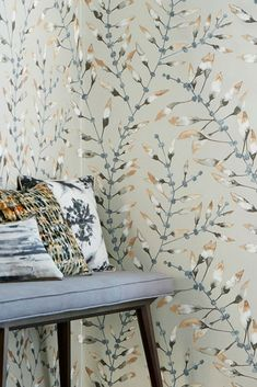 Botanical Collection: the mother earth reflexions Parda, Inspirational Wallpapers, Motif Floral, Brown And Grey, Dark Grey, Designer Wallpaper, Traditional Design, Pattern Wallpaper, Mother Earth
