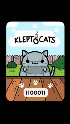 #KleptoCats Here's my new friend #iOS www.kleptocats.com/share #caturday