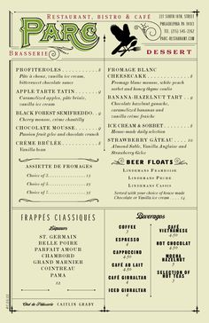 menu inspiration