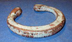 """Bracelet Vintage Cuff Solid Afghan Kuchi Tribal Alpaca Silver 2.25"""" dia"""