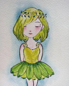 "percakapan sore ini: D: ""knp km sering gambar gini ndah?"" (nyekripmu piye?) I: ""aku lagi stres, Din. Butuh refreshing... -_-"" (nyesss) *dilema anak nyekrip T.T *abaikan percakapan diatas, krn seni tiada batas #uhuuk  #doodle #watercolor #watercolorpainting #fairy #green #periijo #mumetskripsi #abaikan"
