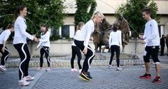 Hungary's Best Skipping Team Take to the Streets