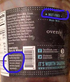How to complain to the FDA regarding misleading food allergen labels. Tree Nut Allergy, Peanut Allergy, Peanut Free Classroom, Chocolate Stout Cake, Peanut Tree, Nut Allergies, Struggle Is Real, Organic Sugar, Free Food