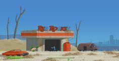 #Fallout 4 #PixelArt by Backterria
