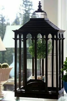 Cage Diy Craft Table craft room table diy with 9 cube organizer Craft Room Tables, Antique Bird Cages, Bronze Art, The Caged Bird Sings, White Cottage, Looks Vintage, Beautiful Birds, Architecture, Bird Houses